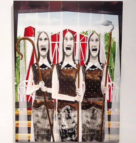 Barnaby Furnas, The Trio (Grand Ole Opry) (2018), via Art Observed