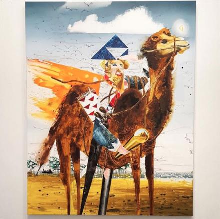Barnaby Furnas, The Adventurer (2018), via Art Observed