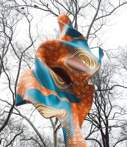 Yinka Shonibare, Wind Sculpture (2018), via Art Observed