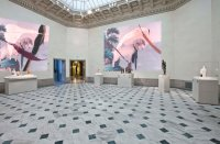 Julian Schnabel at Legion of Honor, via NYT