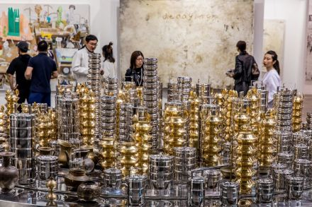 Subodh Gupta at Arario Gallery, via Art Basel