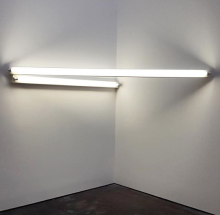 Dan Flavin, Untitled (1966), via Art Observed
