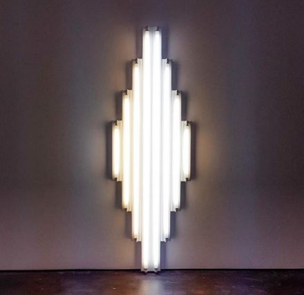 Dan Flavin, monument for V. Tatlin (1968), via Art Observed