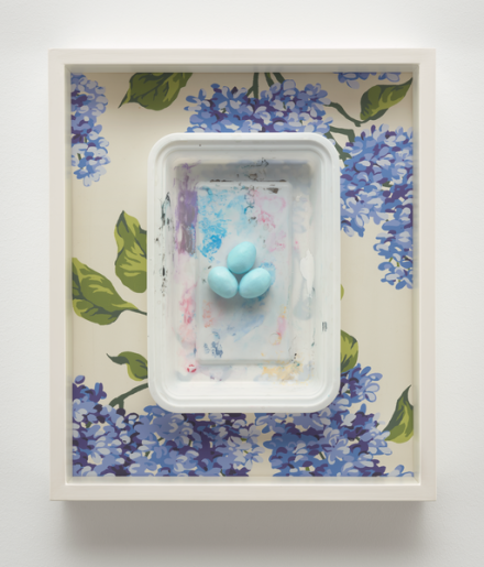 Robert Gober, Eggs on Plastic (2007-2017), via Matthew Marks