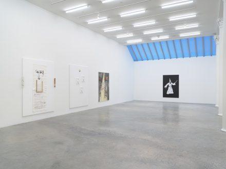 Richard Aldrich, Enter the Mirror (Installation View), via Bortolami
