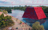 Christo's London Mastaba, via The Guardian