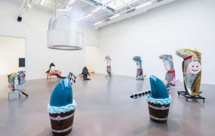 Cosima von Bonin, WHAT IF IT BARKS? (Installation View), via Petzel