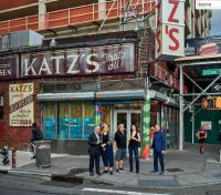Artists outside Katzs, via NYT