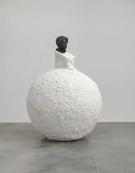 Lorna Simpson, Woman on Snowball (2018), via Hauser & Wirth