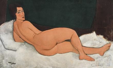 Amedeo Modigliani, Nu Couché (Sur le Côté Gauche) (1917), via Sotheby's