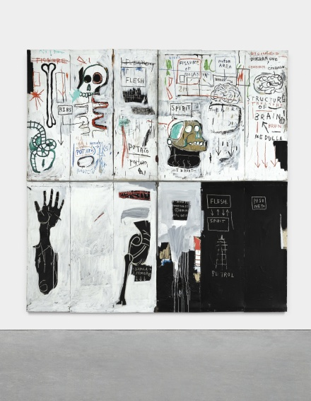 Jean-Michel Basquiat, Flesh and Spirit (1982-1983), via Sotheby's