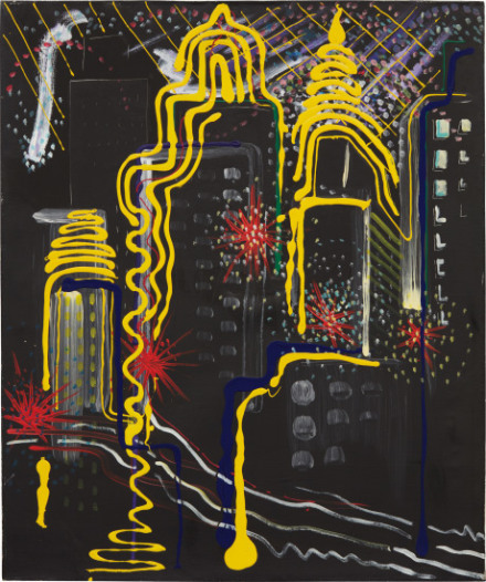 Sigmar Polke, Stadtbild II (City Painting II) (1968), via Phillips