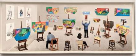 David Hockney at Pace, via Art Observed