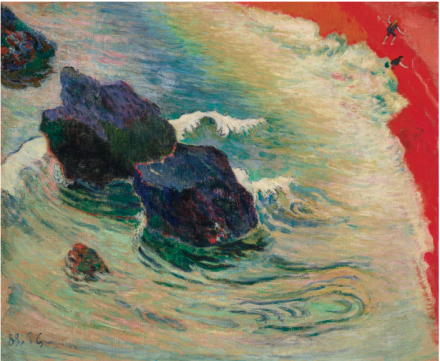 Paul Gauguin, La Vague (1888), via Christie's