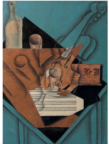 Juan Gris, La table de musicien (1914), via Christie's