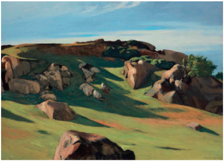 Edward Hopper, Cape Ann Granite (1928), via Christie's