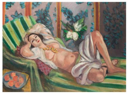 Henri Matisse, Odalisque couchée aux magnolias (1923) $80,750,000, via Christie's