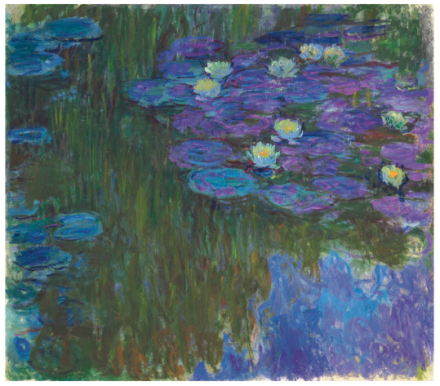 Claude Monet, Nymphéas en fleur (1914-1917), Price $84,687,500, via Christie's