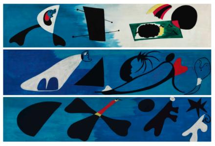 Joan Miro, Mural I, Mural II, Mural III (1933), price 20,000,000, via Christie's