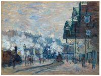 Claude Monet's La Gare Saint-Lazare, Vue extérieure, via Art Newspaper