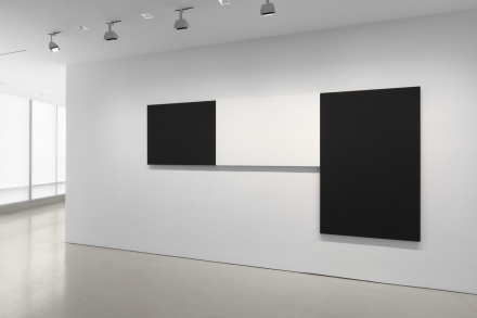 Installation view of Ellsworth Kelly: Black & White Works at The FLAG Art Foundation, 2018. Photography by Steven Probert.