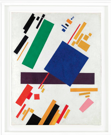 Kazimir Malevich, Suprematist Composition (1916), Price $85,812,500, via Christies