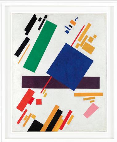 Kazimir Malevich, Suprematist Composition (1916), Price $85,812,500, via Christies