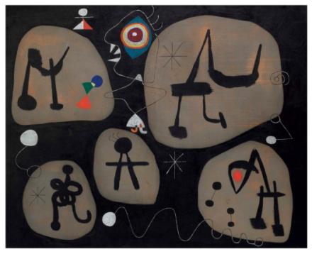 Joan Miro, Femme entendant de la musique (1945), $21,687,500 via Christies