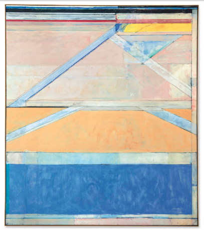 Richard Diebenkorn, Ocean Park 126 (1969), Price 23,937,500 via Christie's