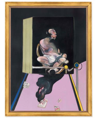Francis Bacon, Study for Portrait (1977), Price 49,812,500, via Christie's
