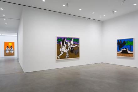 Carroll Dunham, (Installation View), via Gladstone