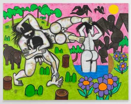 Carroll Dunham, Any Day (2017), via Gladstone