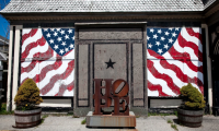 Robert Indiana's lodge in Maine, via NYT