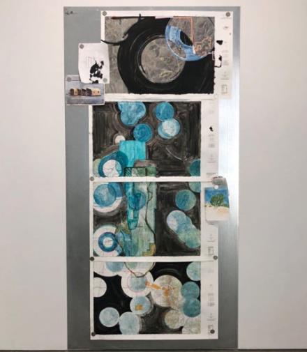 Oscar Tuazon, Water Map (Bashawa bee, Spring Valley, NV) (2018), via Art Observed