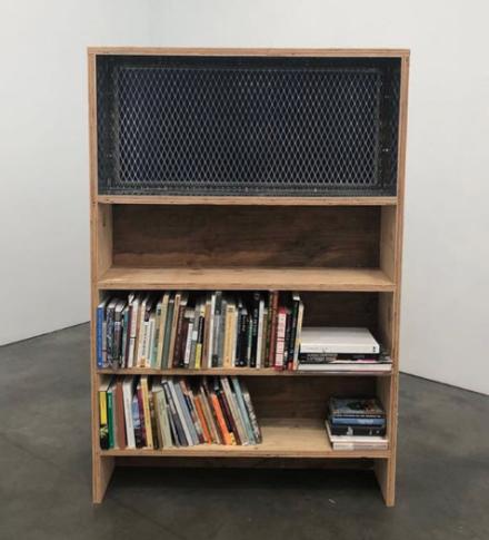 Oscar Tuazon, Blueprint Window (LAWS) (2018), via Art Observed