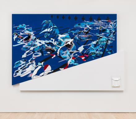 Borna Sammak, Not Yet Titled (Shark Painting) (2018), via JTT