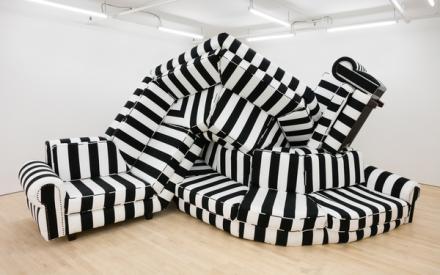 Borna Sammak, Not Yet Titled (Couch) (2018), via JTT