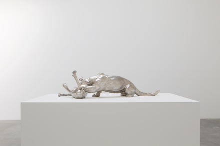 Charles Ray, Mountain Lion Attacking a Dog (2018), via Matthew Marks