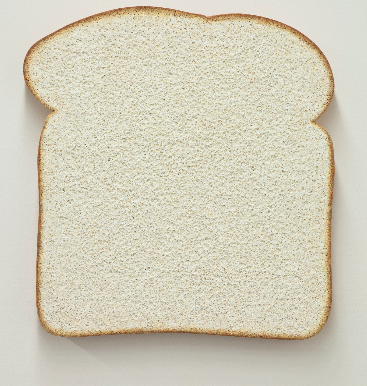 Tom Friedman, Untitled (White Bread) (2013), via Luhring Augustine
