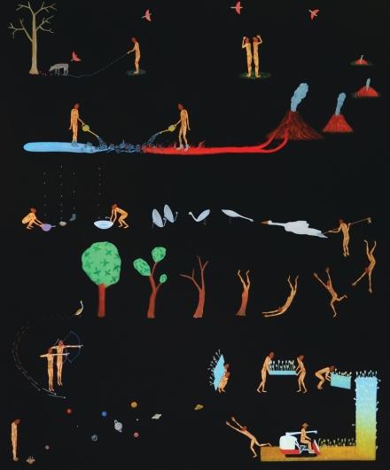 Akira Ikezoe, Coconut Heads in the Bird Land (2017), via Proyectos Ultravioleta