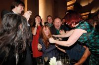 Glasgow-born artist Susan Philipsz is congratulated by friends and family after hearing that she has won the Turner Prize 2010, at the Tate Britain gallery, in central London