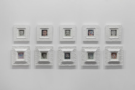 Liu  Wei, 180  Faces,  2017-2018  10  framed  paintings  mixed  media  dimensions  variable  ©  Liu  Wei  Courtesy:  Sean  Kelly,  New  York  and  AYE  Gallery,  Beijing