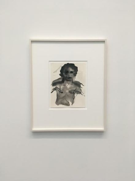 Marlene Dumas, The Young Mortal Adonis (2015-2016), via Art Observed