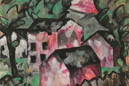 Kazimir Malevich, Landscape (1911), via Christie's