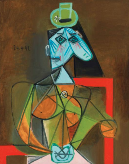 Pablo Picasso, Femme dans un fauteuil (Dora Maar) (1942), via Christie's