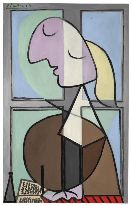Pablo Picasso, Buste de femme de profil (Femme écrivant) (1932), via Sotheby's