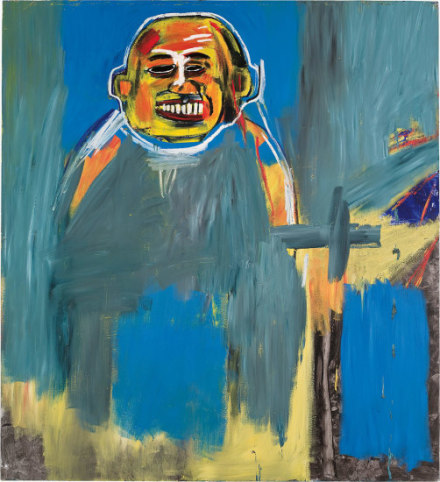 Jean-Michel Basquiat, Bird as Buddha (1984), via Phillips