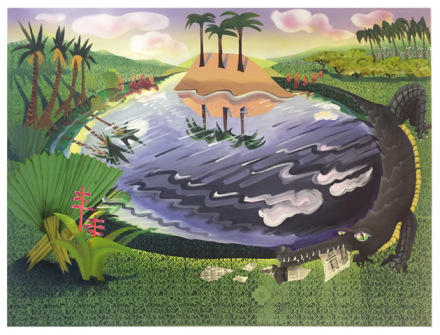 Melissa Brown, Swamp, 2018, courtesy Derek Eller Gallery.