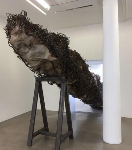Anish Kapoor, A blackish fluid excavation (2018), via Art Observed