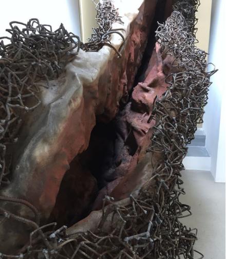 Anish Kapoor, A blackish fluid excavation (detail) (2018), via Art Observed